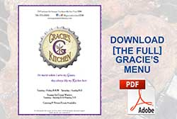 Download the main gracies kitchen menu