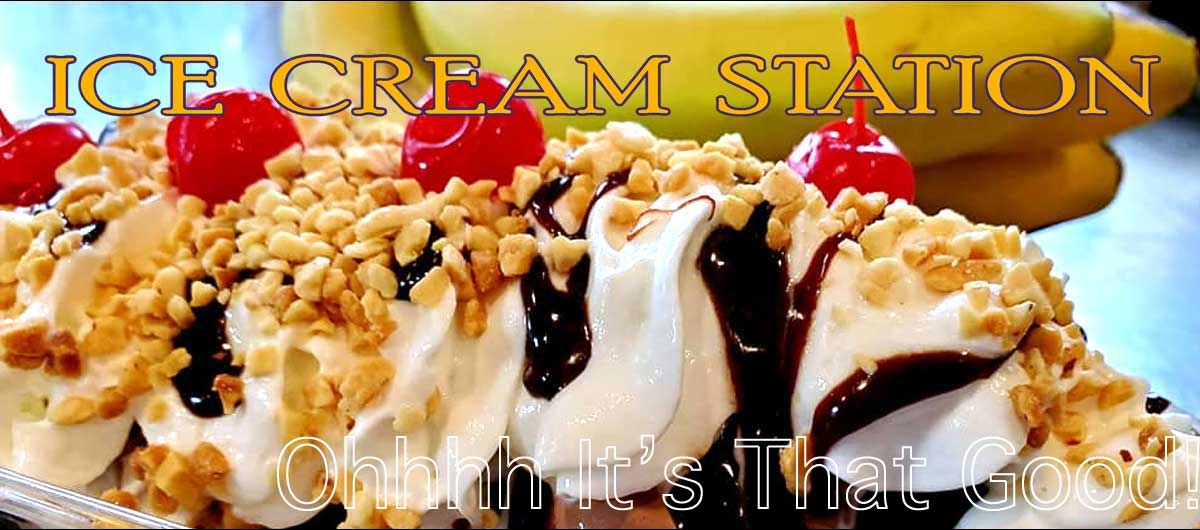 Gracies Kitchen Ice Cream Banana Split Sundae come get one here in Voorheesville, NY